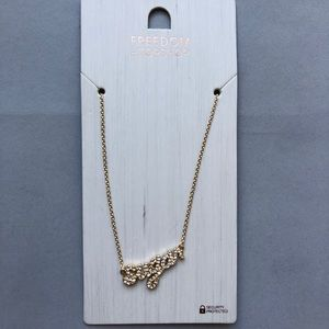 SUGAR nameplate necklace